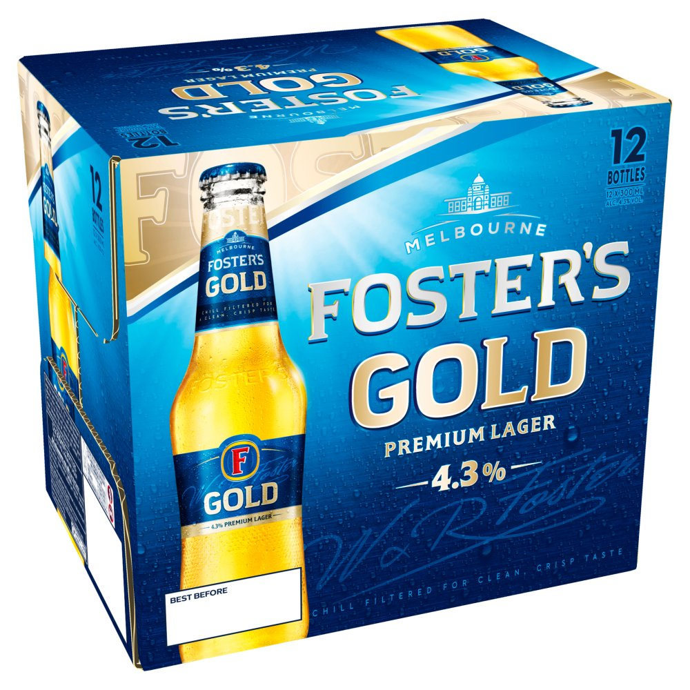 Fosters Gold Non Returnable Bottle 12pack