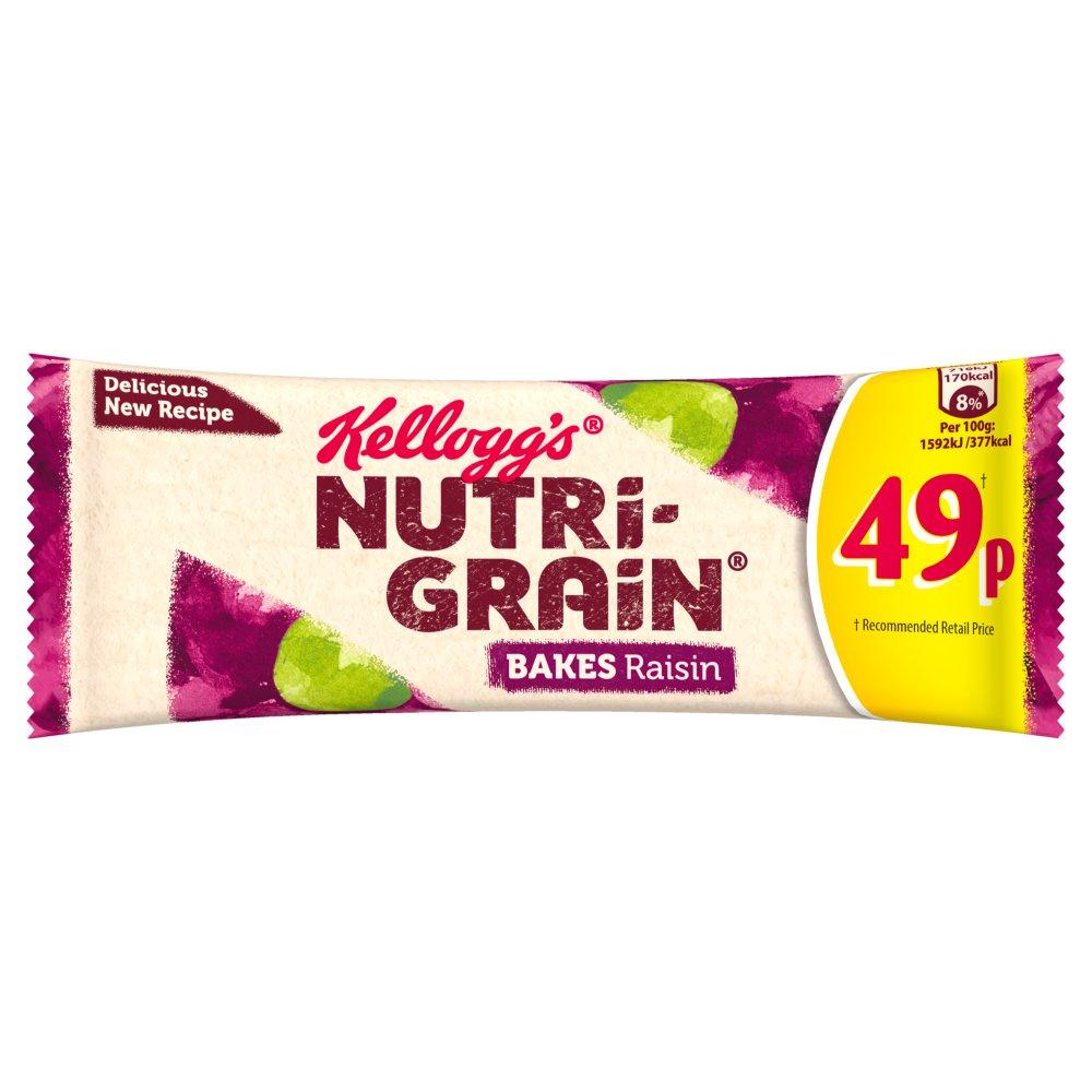 Kellogg's Nutri-Grain Bakes Raisin 24 x 45g