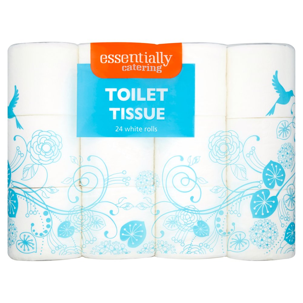 Essentially Catering Toilet Tissue 24 White Rolls