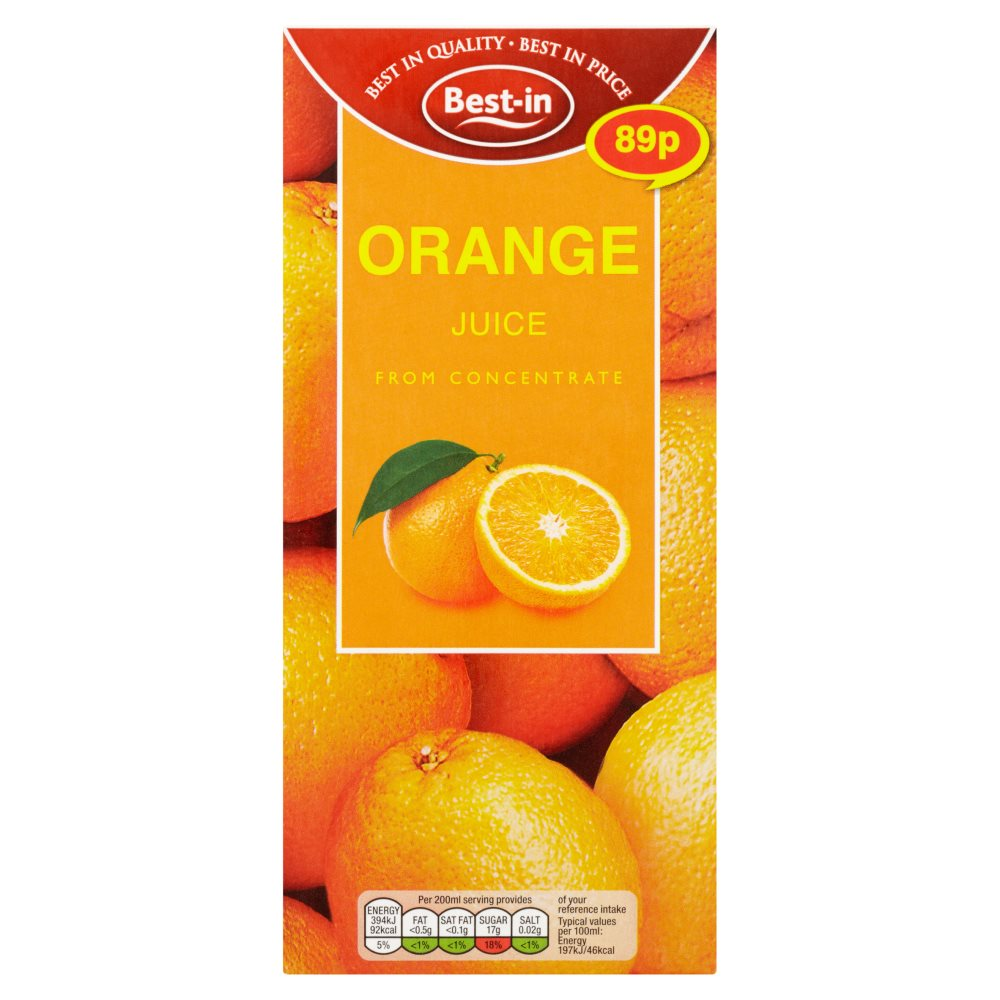 Bestin Orange Juice Drink PM 89p