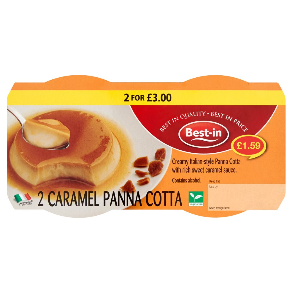 Best/In 2 Caramel Panna Cotta £1.59 2 For £3
