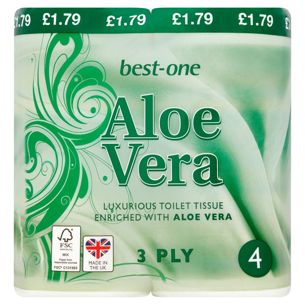 Best-One Aloe Vera Toilet Tissue 3 Ply 4 Rolls