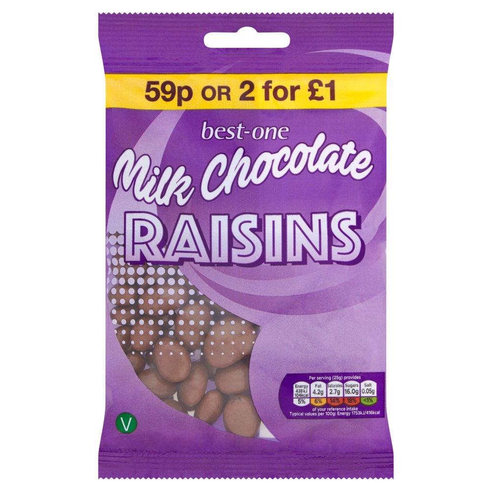 Best-One Milk Chocolate Raisins 75g