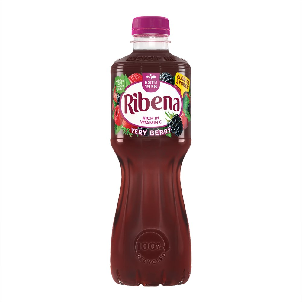 Ribena Very Berry 500ml £1.09 or 2 for £2 PMP