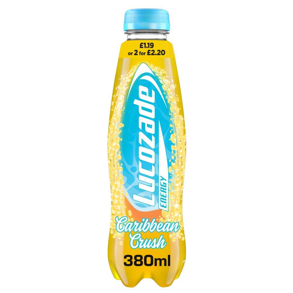 Lucozade Energy Caribbean Crush 380ml PMP £1.19 or 2 for £2.20
