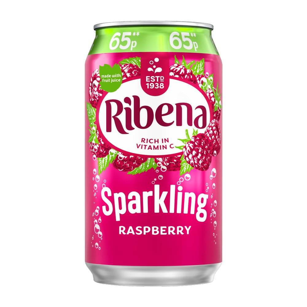 Ribena Sparkling Raspberry 330ml 65p PMP