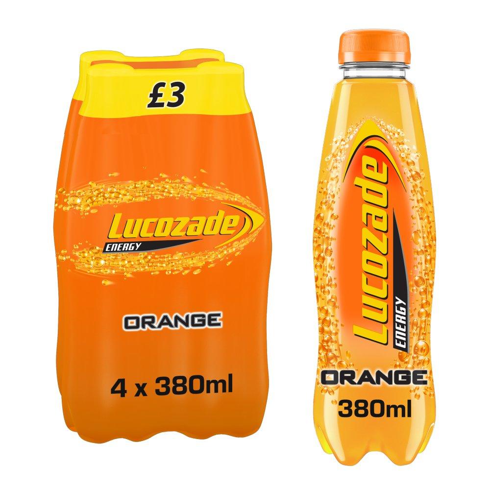 Lucozade Energy Orange 4x380ml PMP £3.00