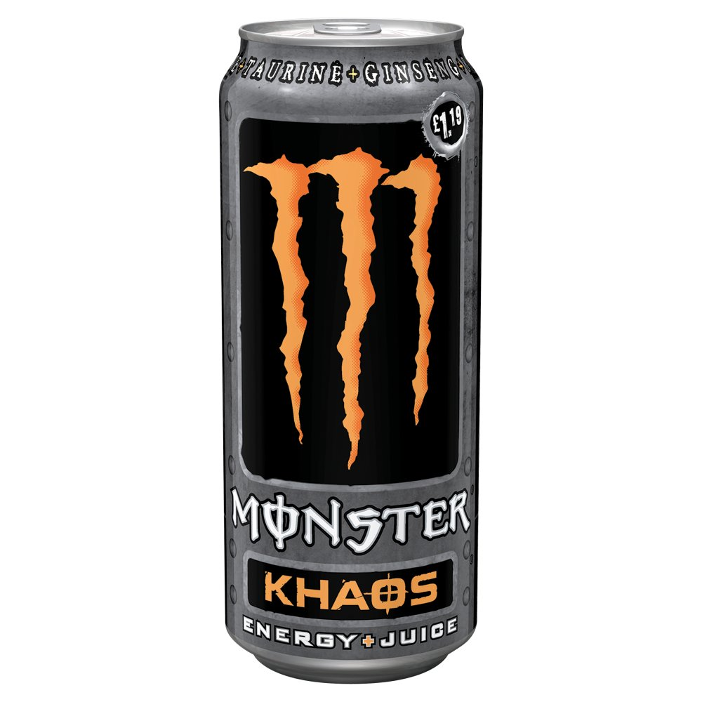 Monster Khaos 500ml PMP £1.19