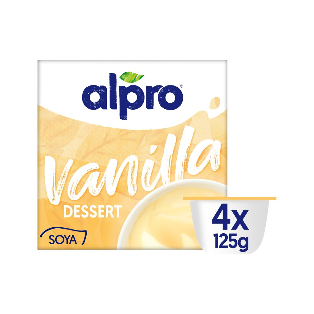 Alpro Velvet Vanilla Dessert 4x125g