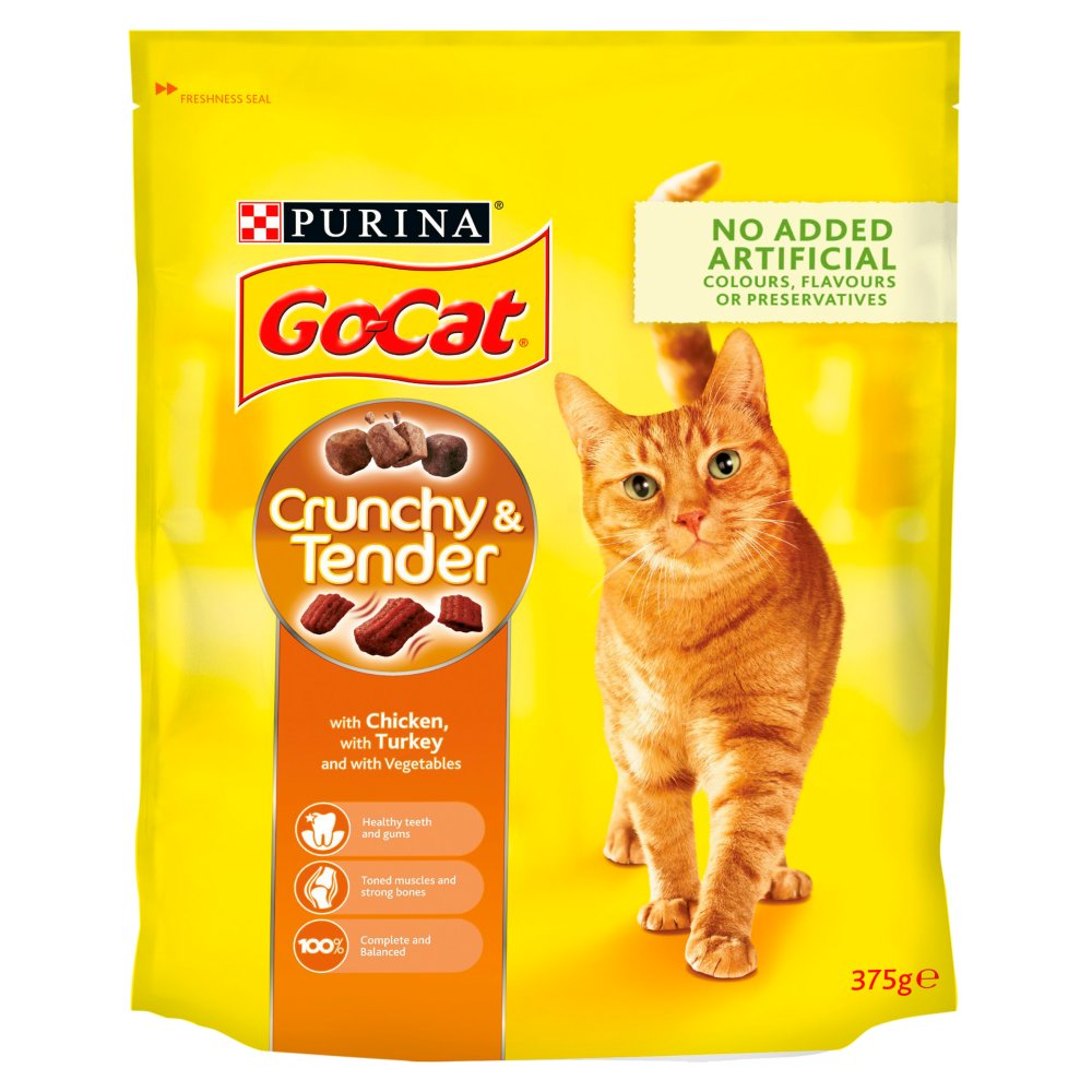 Go Cat Crunchy & Tender Chicken Turkey & Veg