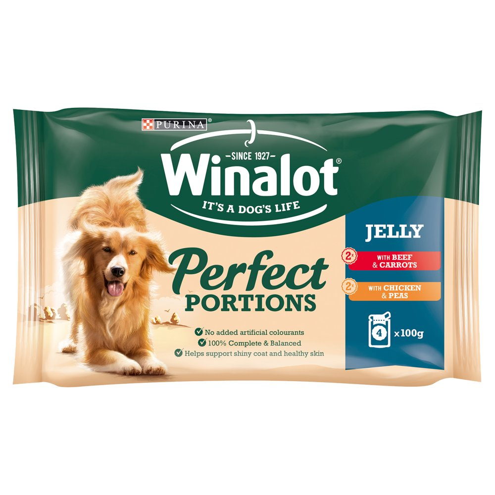 WINALOT Perfect Portions Dog Food Mixed in Jelly 4x100g