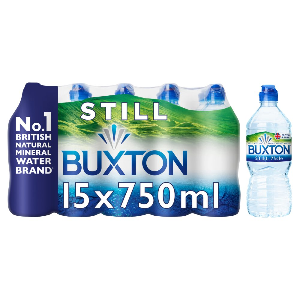 Buxton Still Natural Mineral Water Sports Cap 15x750ml