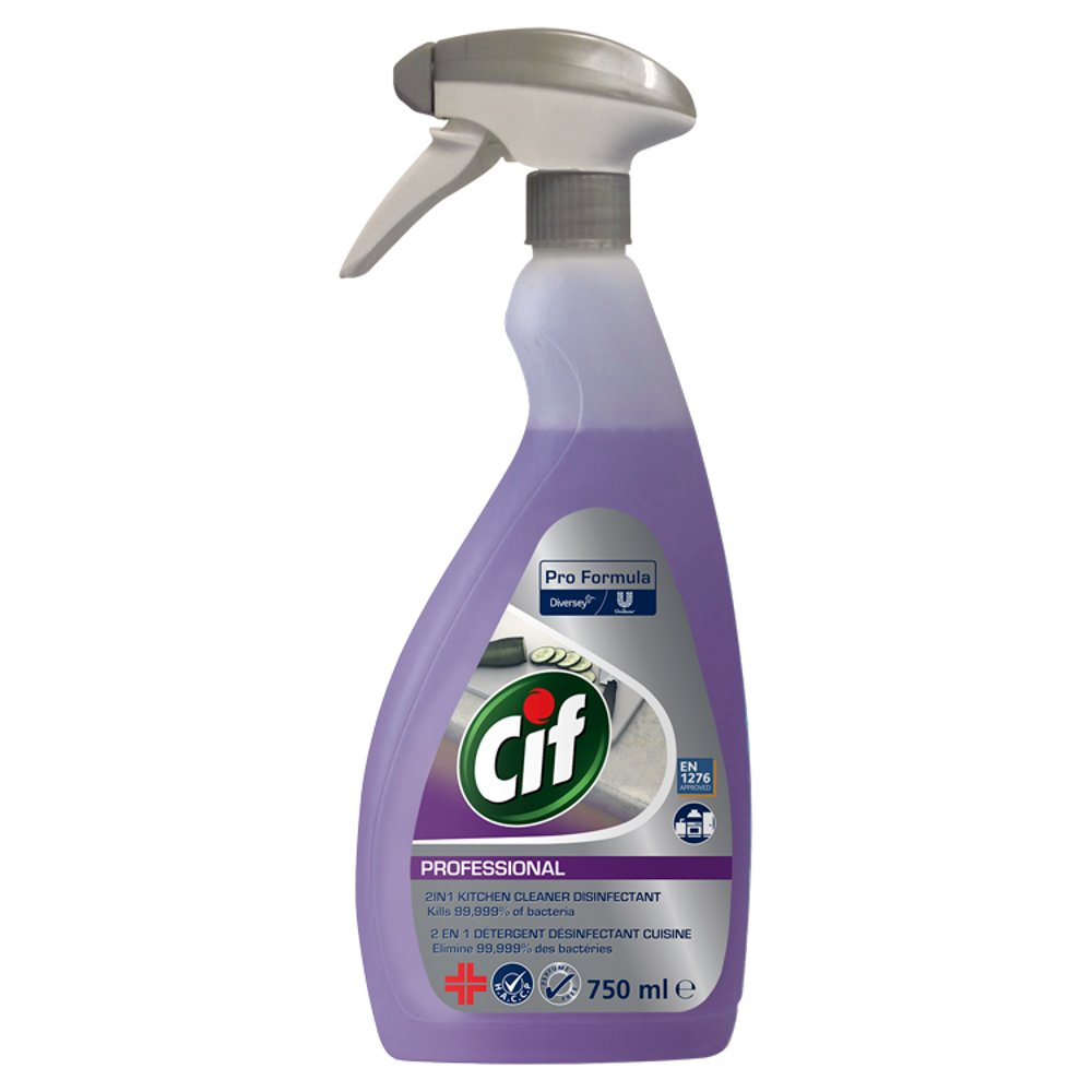 Cif Professional 2in1 Kitchen Cleaner Disinfectant 750ml