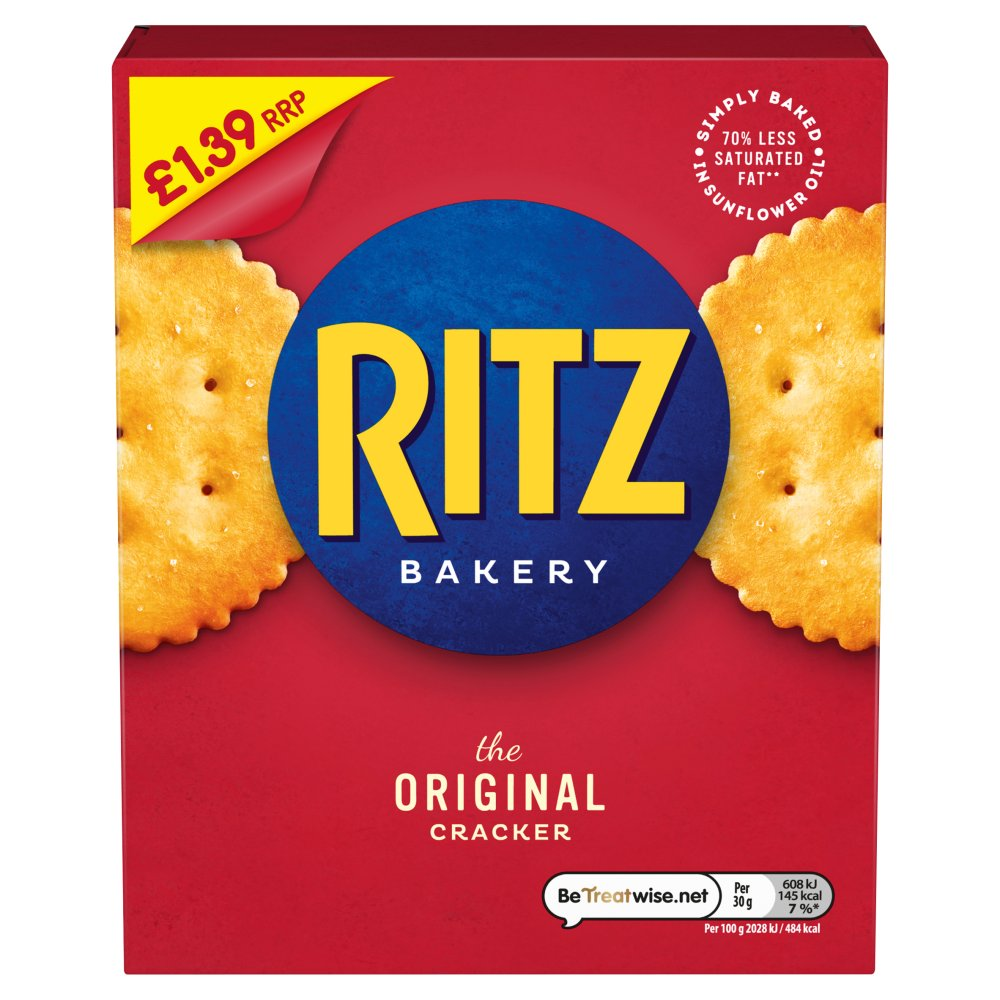 Ritz Original £1.39 Crackers 200g