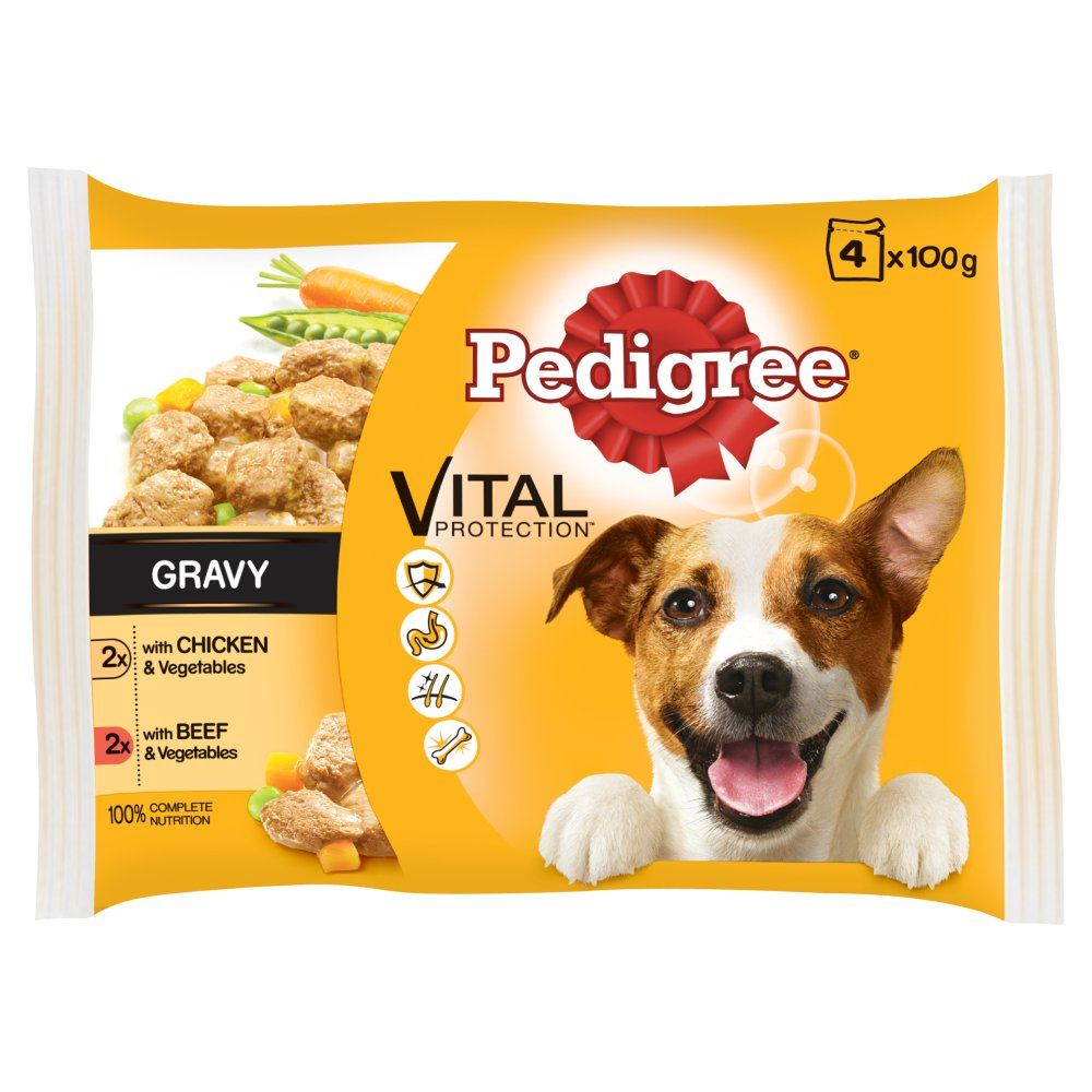 Pedigree Pouch Chicken & Veg Beef & Veg 4pack