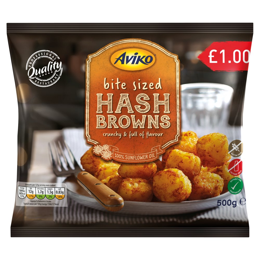 Aviko Bite Sized Hash Brown 500g