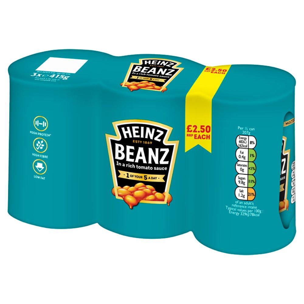 Heinz Baked Beanz 3 x 415g