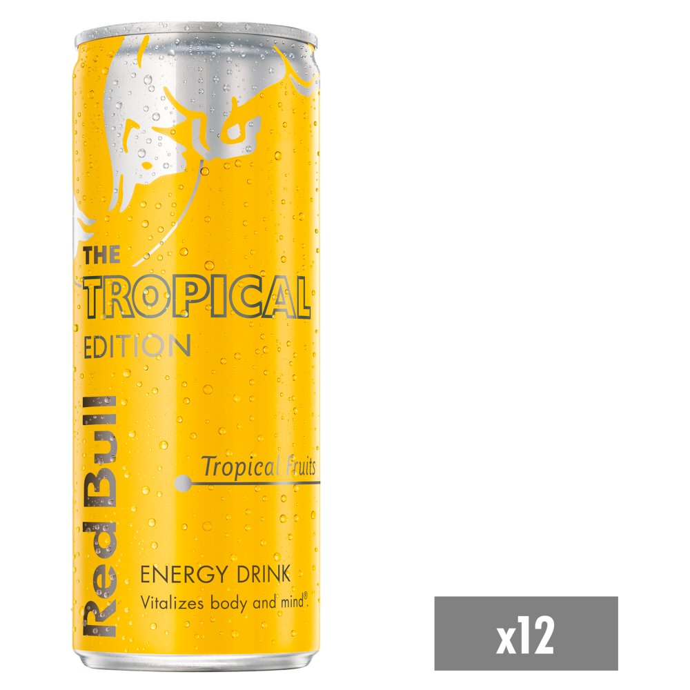 Red Bull Energy Drink, Tropical Edition, 250ml (12 Pack)