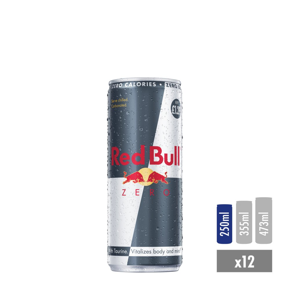 Red Bull Energy Drink, Zero, 250ml PMC £1.29