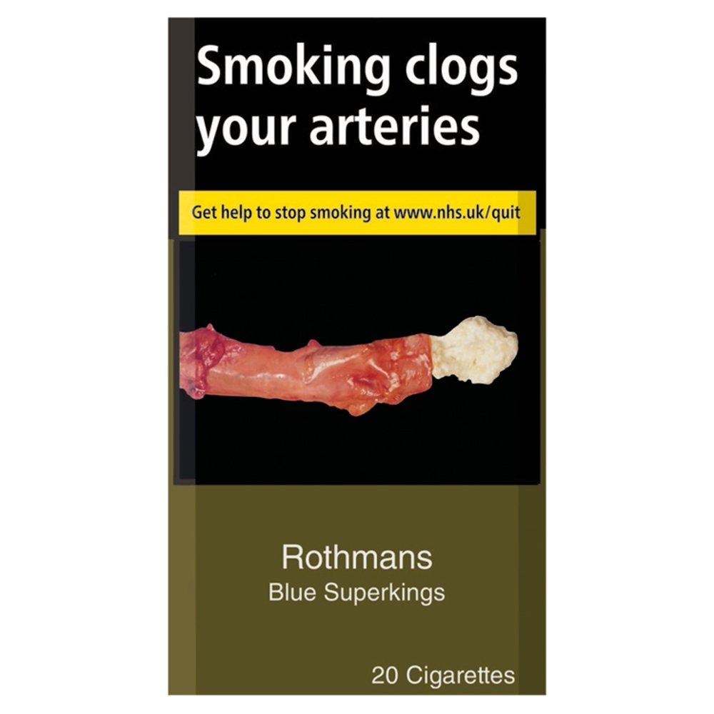 Rothmans Blue Superkings 20 Cigarettes