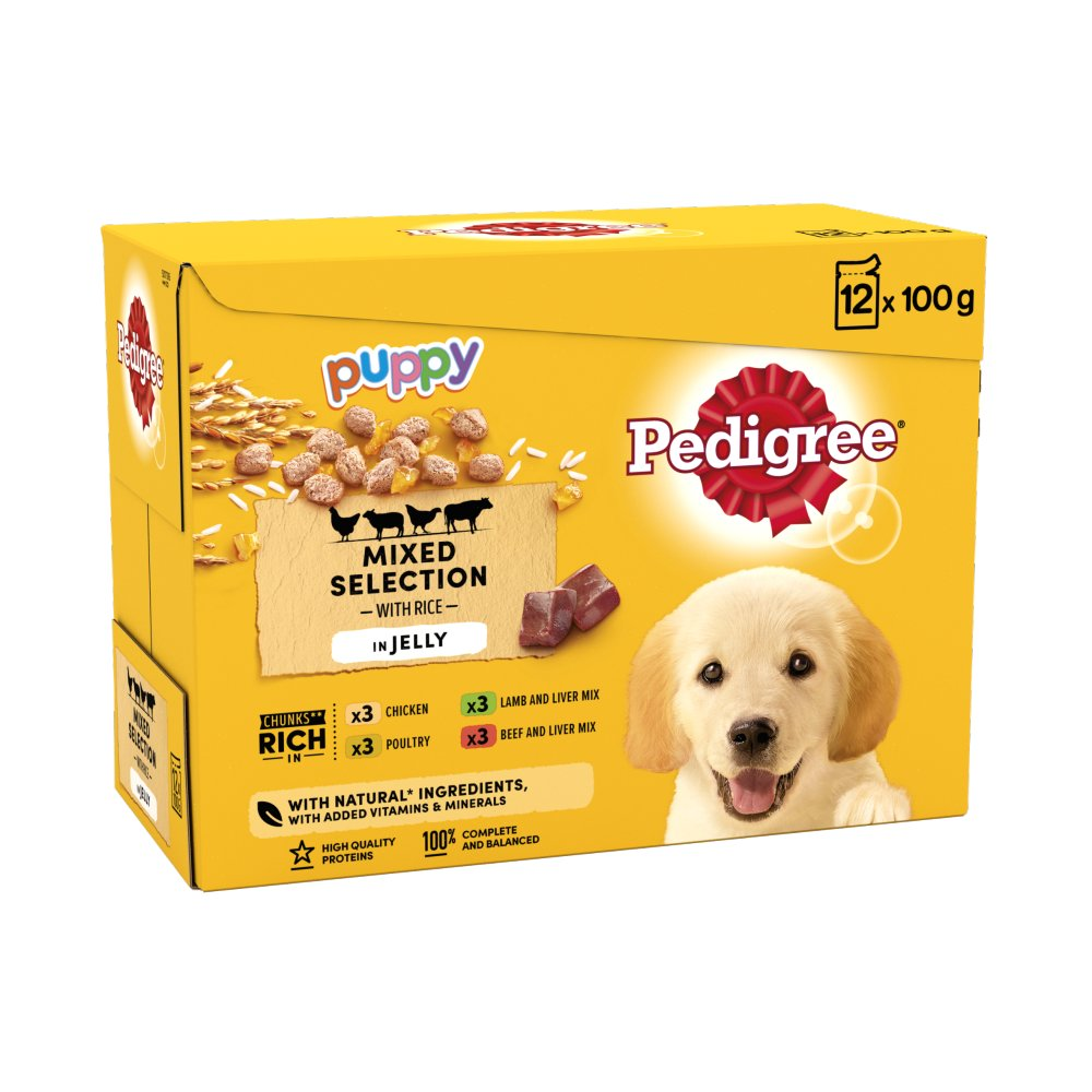 Pedigree Pouch Jelly Puppy 12pack