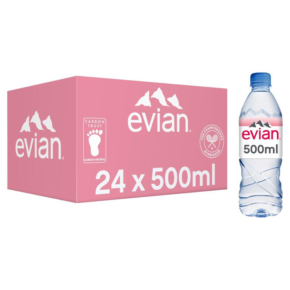 evian Natural Mineral Water 24 x 500ml