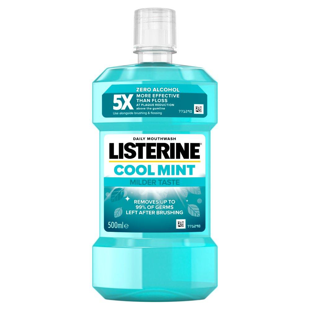 Listerine® Cool Mint Milder Taste Mild Mint Mouthwash 500ml