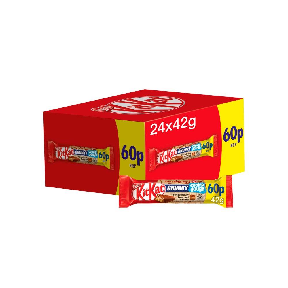 Kit Kat Chunky Cookie Dough Chocolate Bar 42g PMP 60p