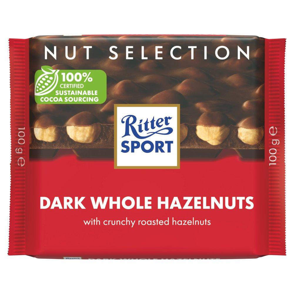 Ritter Sport Nut Selection Dark Whole Hazelnuts 100g