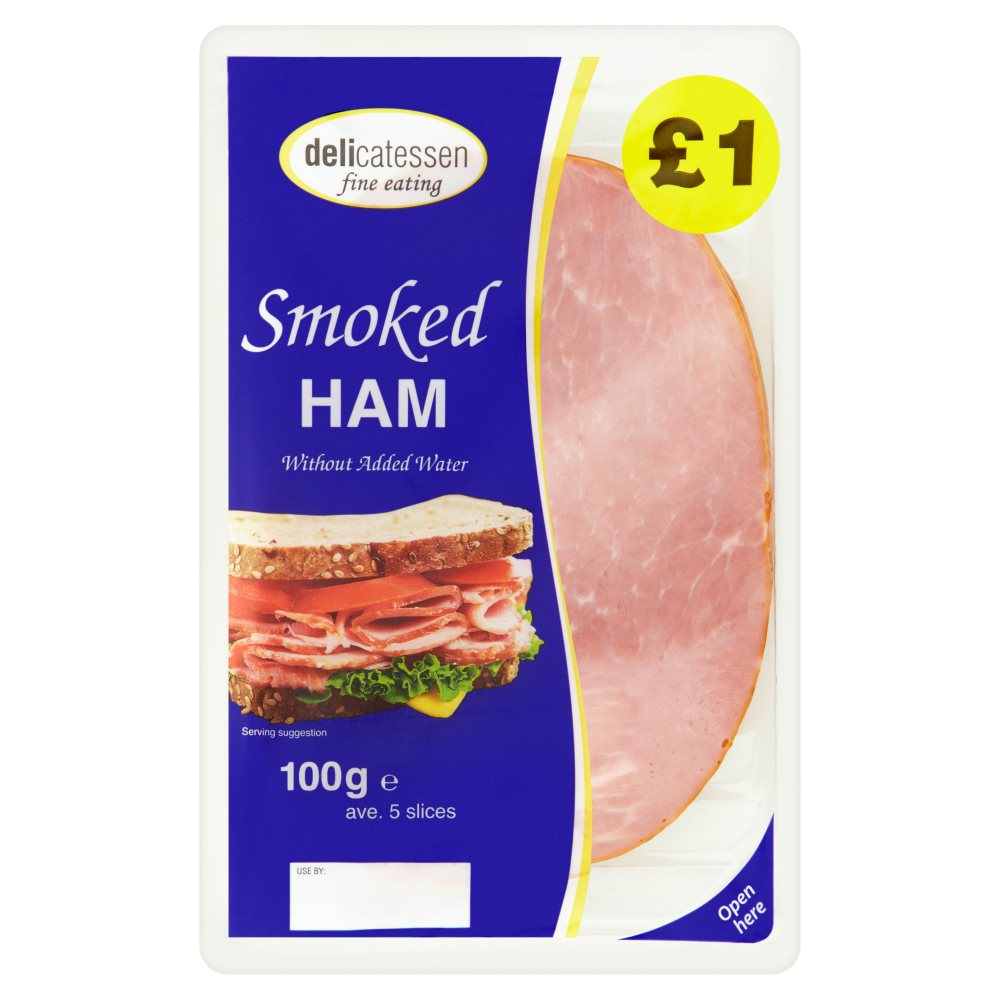 Delicatessan Fine Eating Smoked Ham PM £1