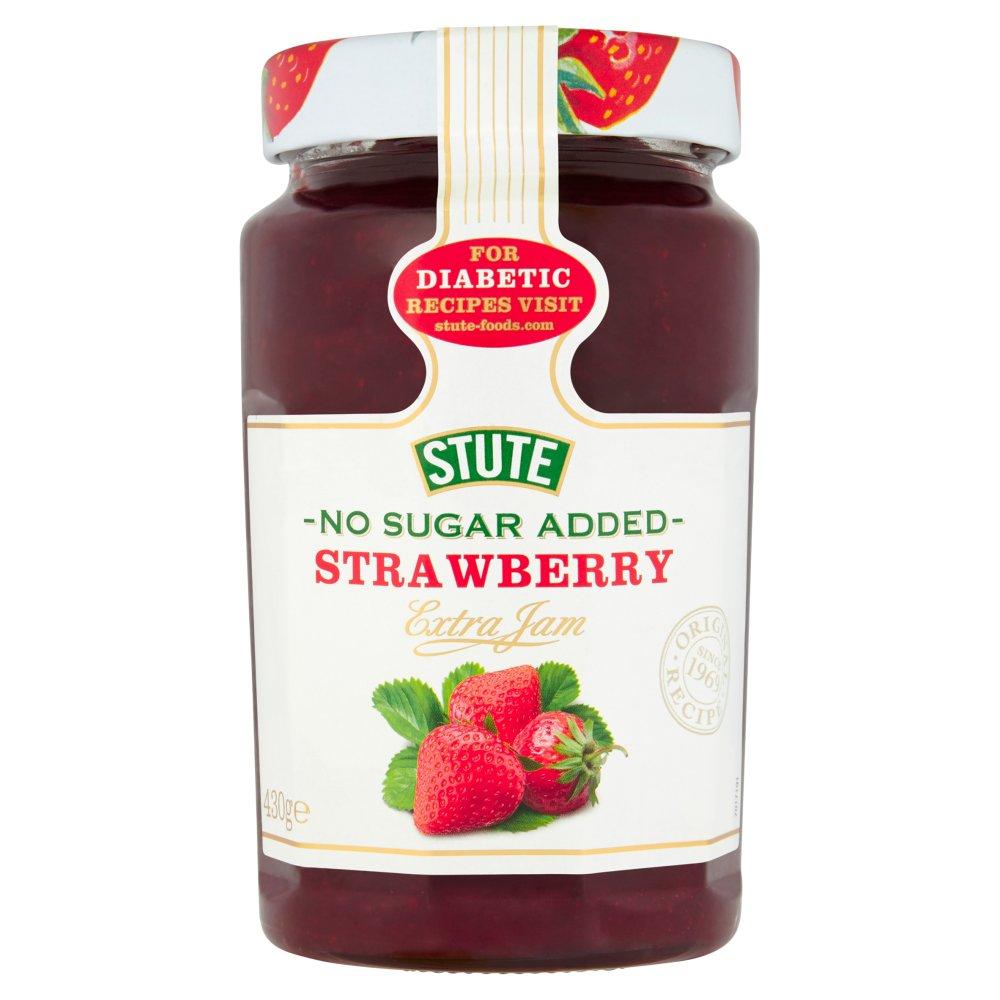 Stute No Sugar Added Strawberry Extra Jam 430g