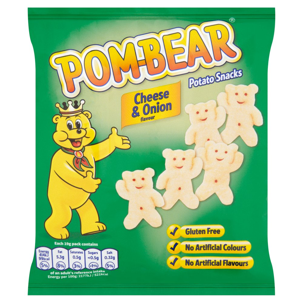 Pom Bear Cheese & Onion Packet