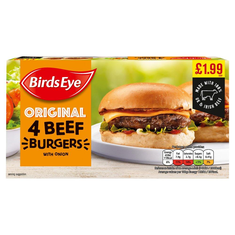 Birds Eye 4 Original Beef Burgers 227g