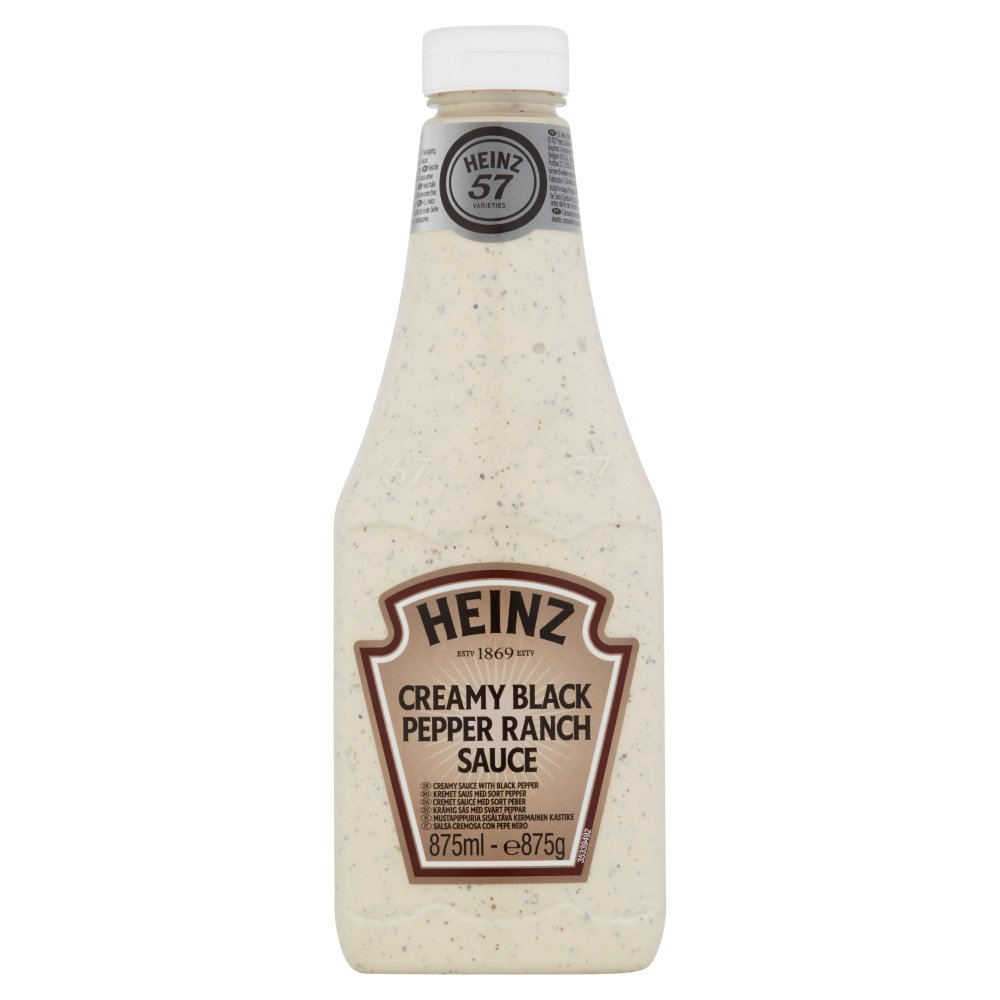 Heinz Creamy Black Pepper Ranch Sauce 875ml