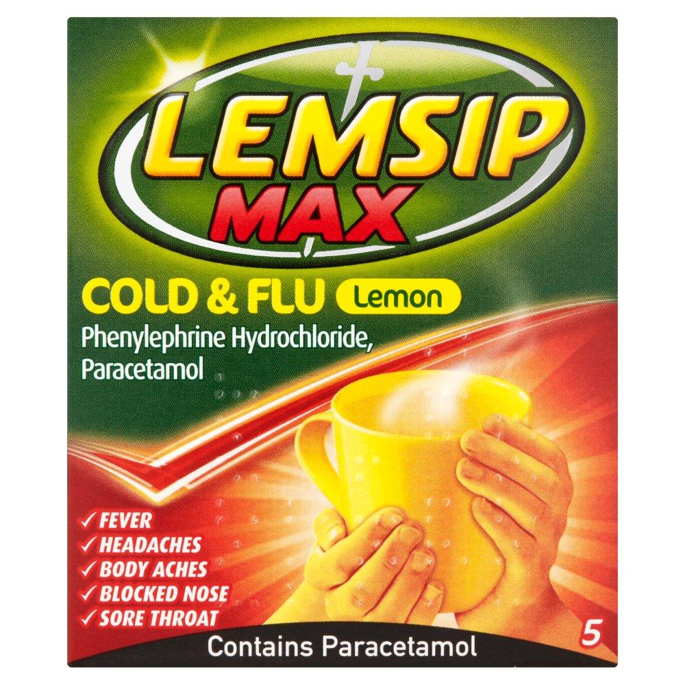 Lemsip Max Cold & Flu Lemon 5 Sachets