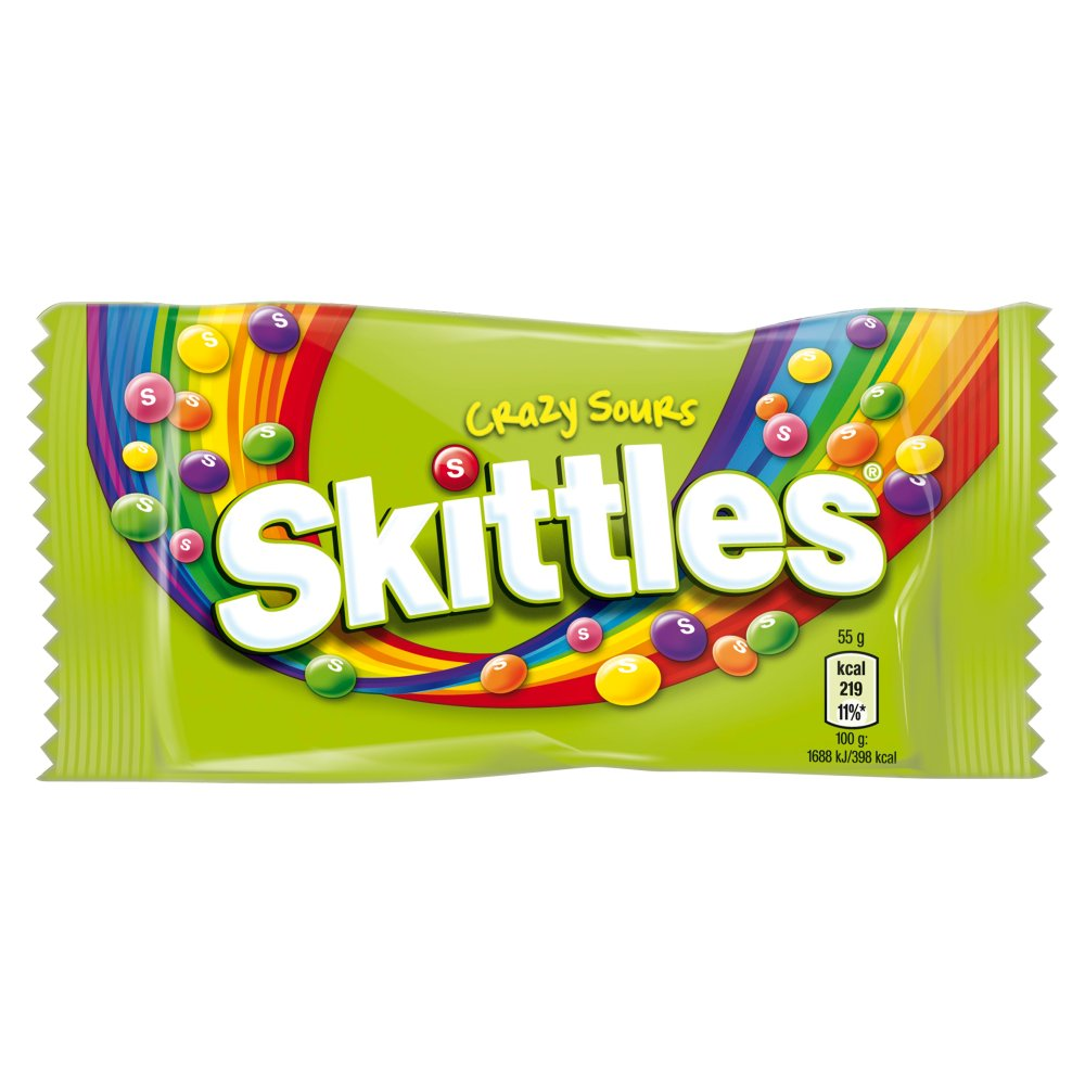 skittles crazy sours 55g   bestway wholesale