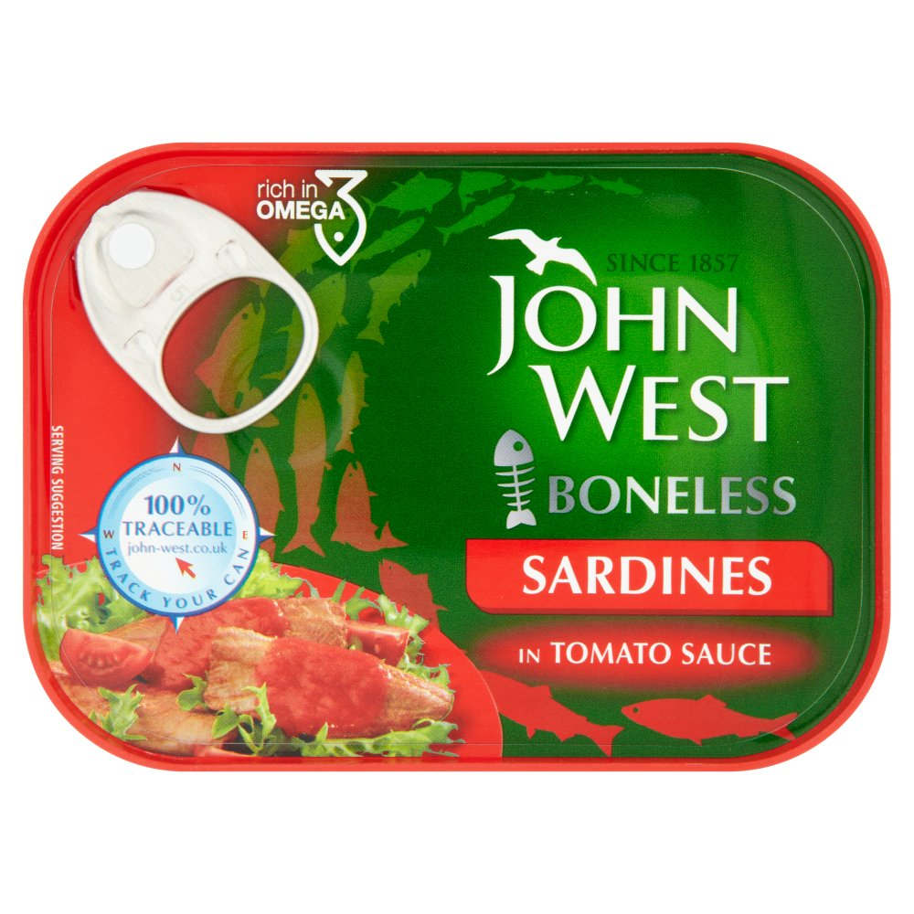 John West Sardine Boneless In Tomato
