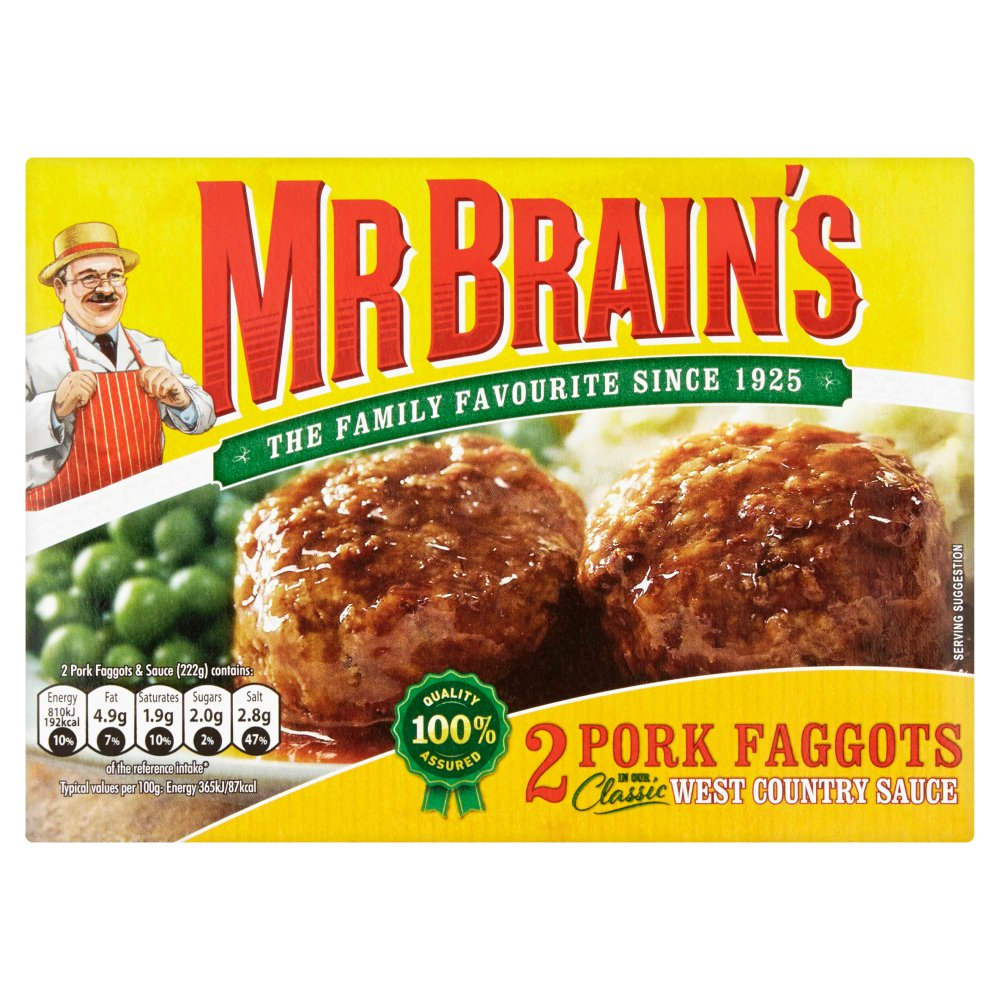 Mr Brains 2 Pork Faggots