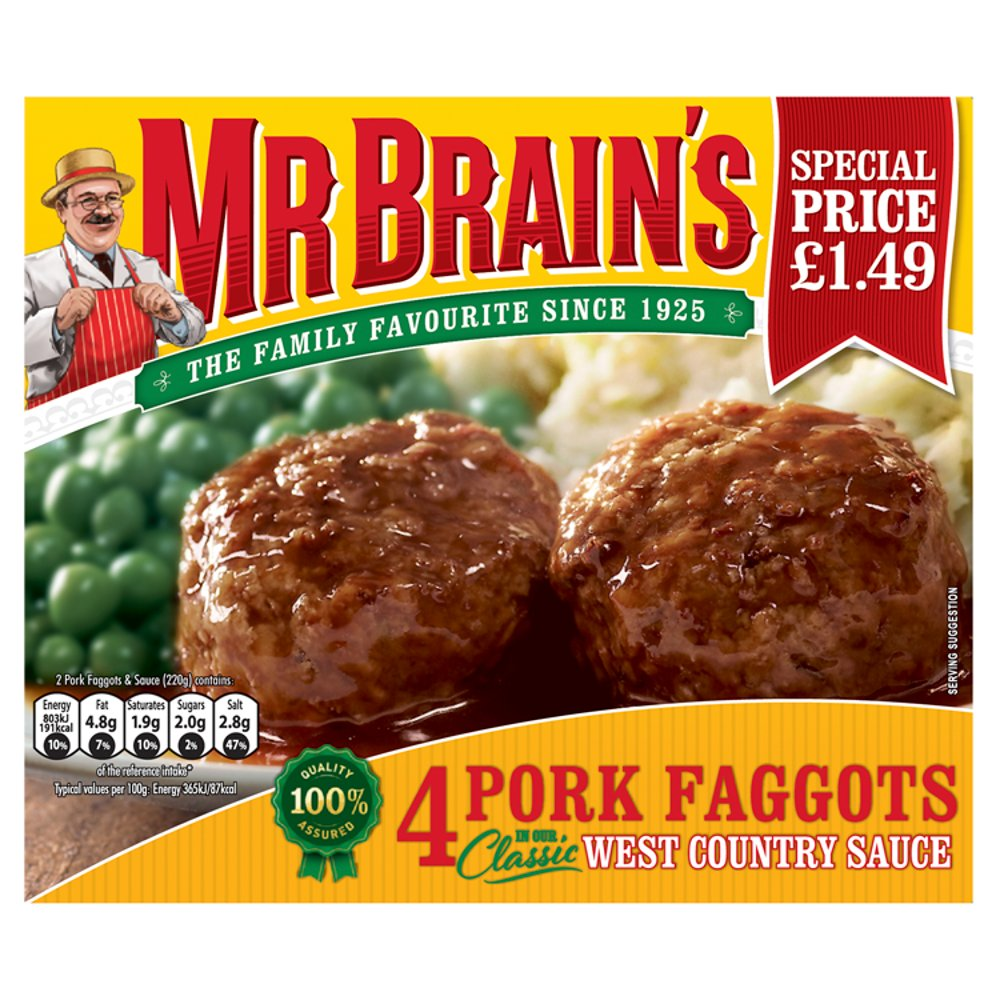 Mr Brain's 4 Pork Faggots 439g