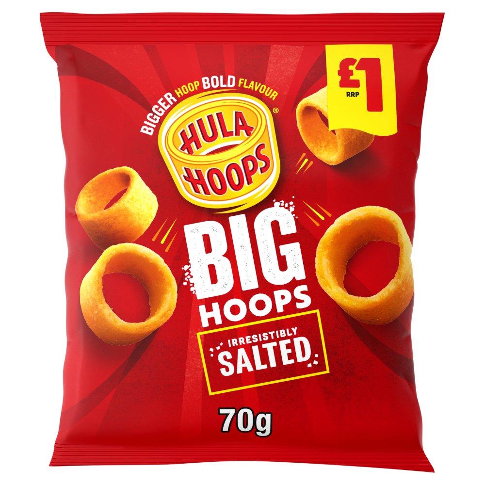 Hula Hoops Big Hoops Original Crisps 70g £1 PMP