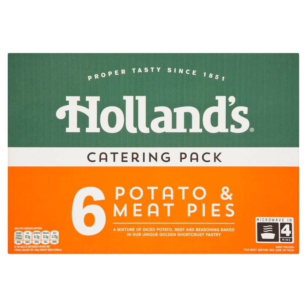Hollands Potato & Meat Pie Catering Pack