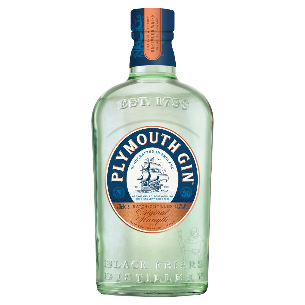 Plymouth Gin 41.2percent Abv