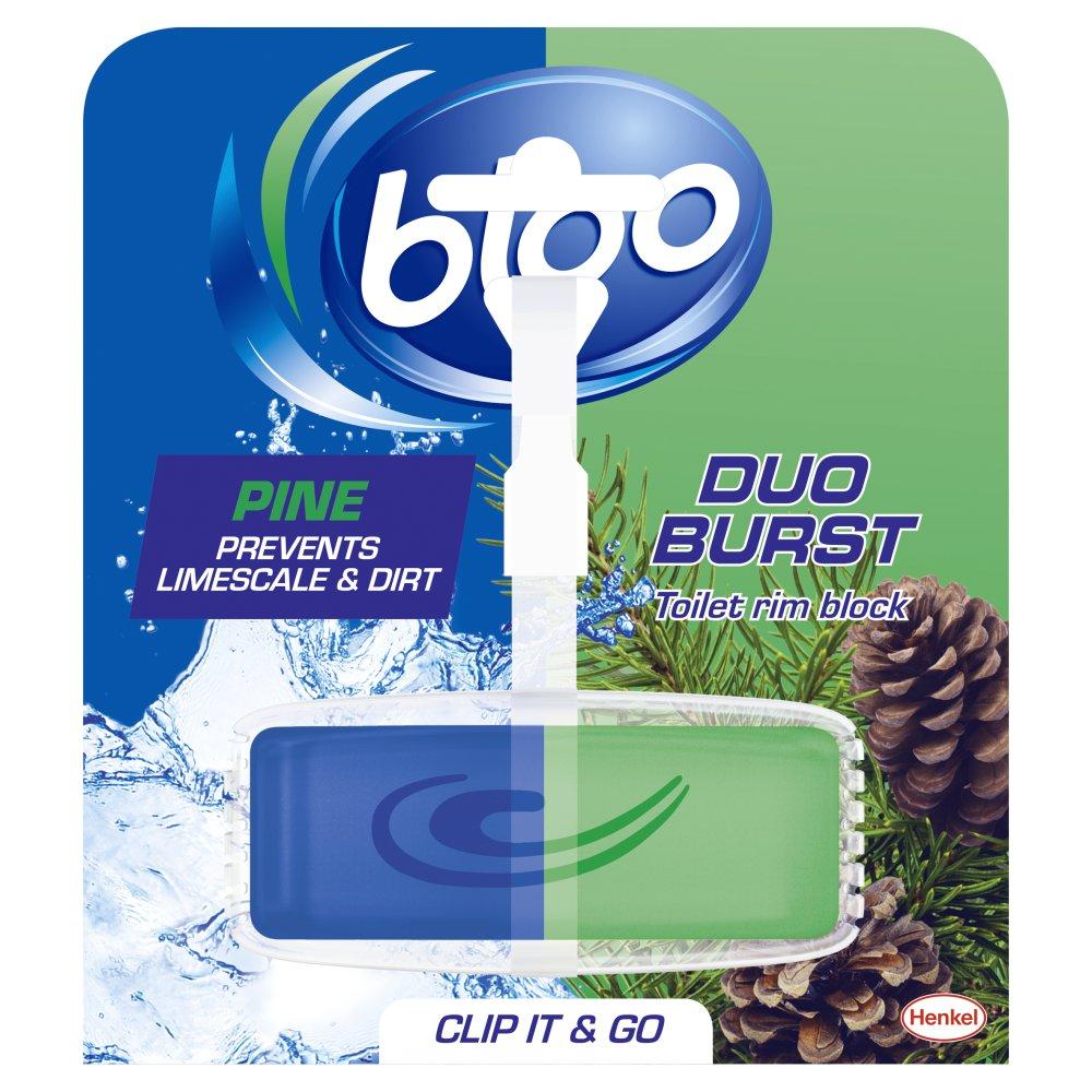 Bloo Duo Burst Pine Toilet Rim Block 40g