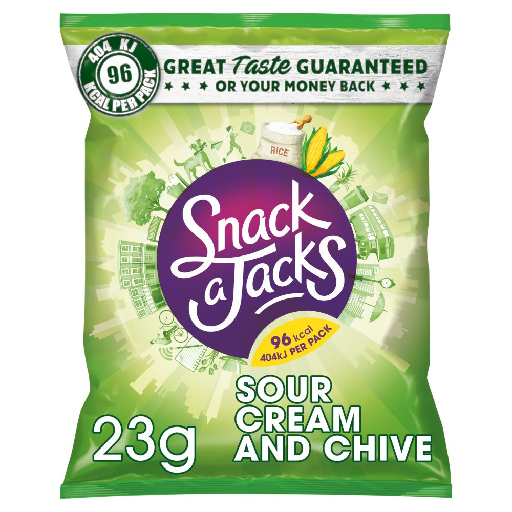 Snack A Jacks Sour Cream & Chive Rice Cakes 23g