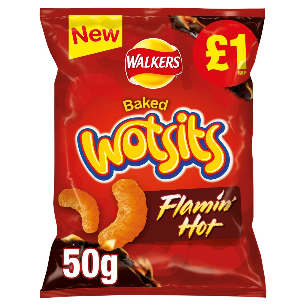 Walkers Wotsits Flamin' Hot Snack £1 PMP 50g