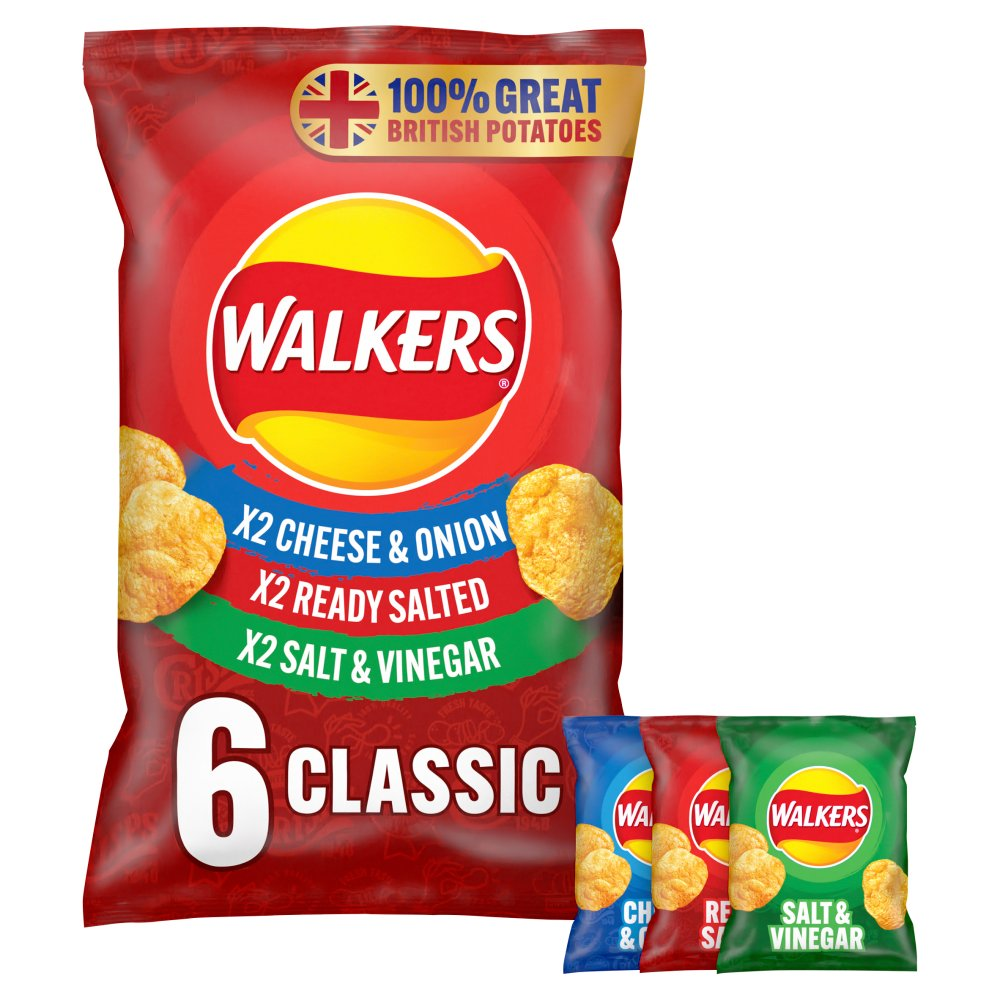 Walkers Classic Variety Multipack Crisps 6 x 25g