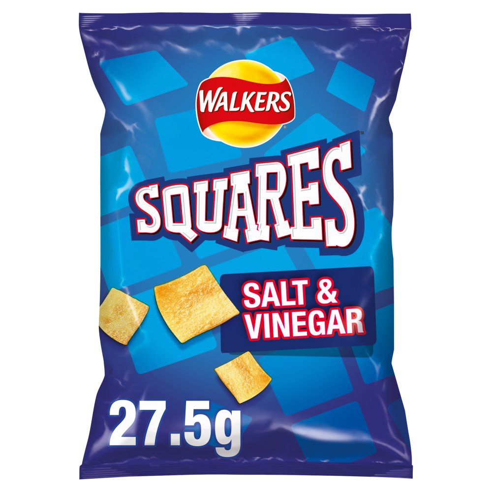 Walkers Squares Salt & Vinegar Snacks