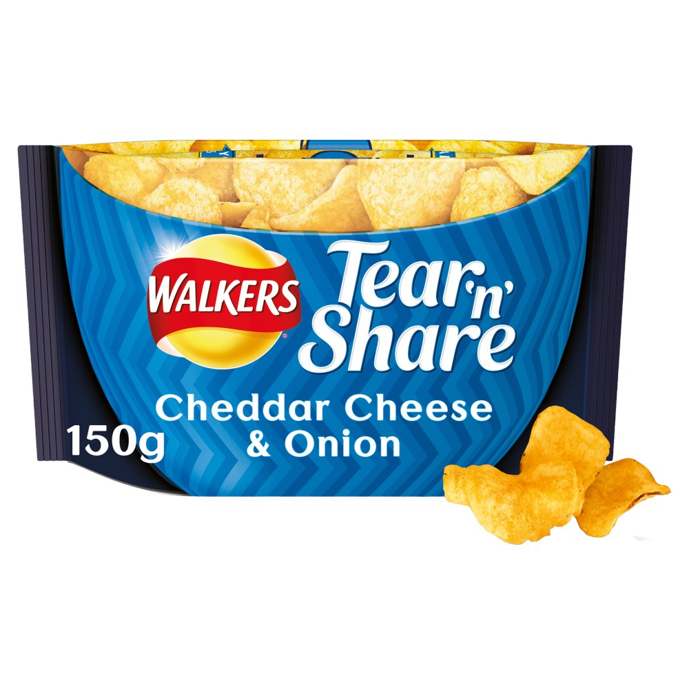 Walkers Tear And Share Cheddar And Onion