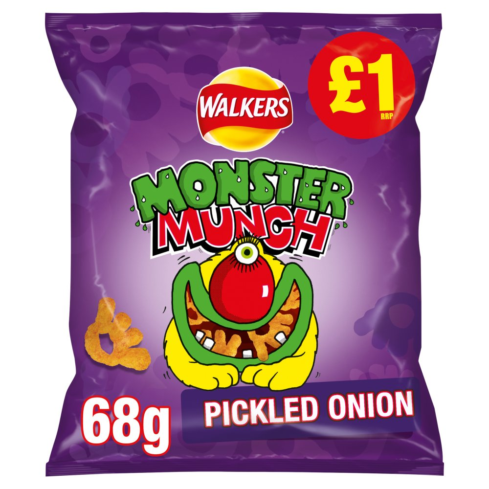 Walkers Monster Munch Pickled Onion Snacks £1 PMP 68g