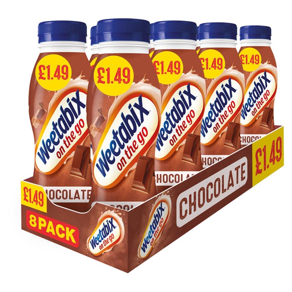 Weetabix On The Go Chocolate Breakfast Drinks Case 8 x 250ml PMP £1.49